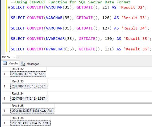 Format a Datetime value in SQL Server
