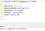 Table type Parameters in SQL Server