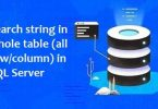 Search string in whole table (all rowcolumn) in SQL Server