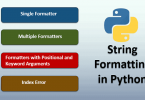 How To Use String Formatting In Python