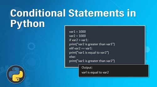 How To Write Conditional Statements In Python