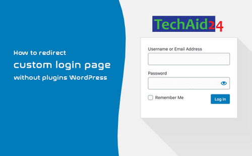 How to redirect custom login page without plugins WordPress